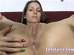 She takes off down then oils up her a-hole..