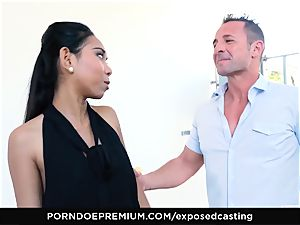 exposed audition - asian babe likes super-steamy FFM threesome