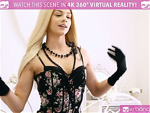 VR porno - ELSA JEAN blonde COWGIRL nubile rides meatpipe
