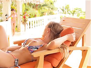 Madison Ivy and Nicole Aniston snatch fun in bikinis