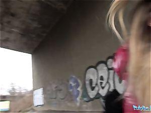 Public Agent Rhiannon Ryder pounded under a bridge