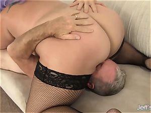 whorish plus-size Jade Rose intensively romped